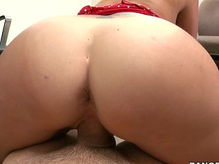 Awesome blonde with round butt is satisfying her boss indoors